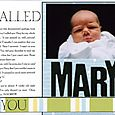 I called you Mary