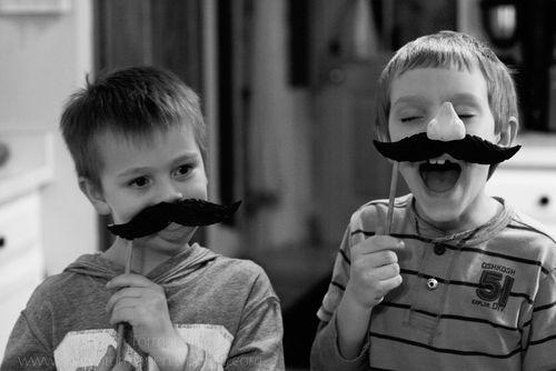 fake mustache boys