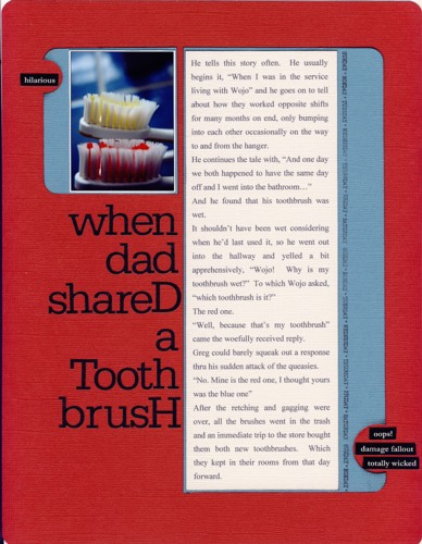 When dad shared a toothbrush